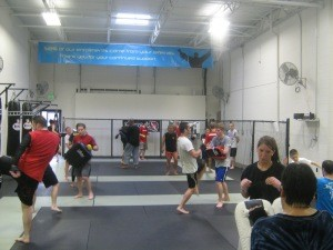 The general public session was packed with students wanting to learn from one of Muay Thai's legendary fighters.