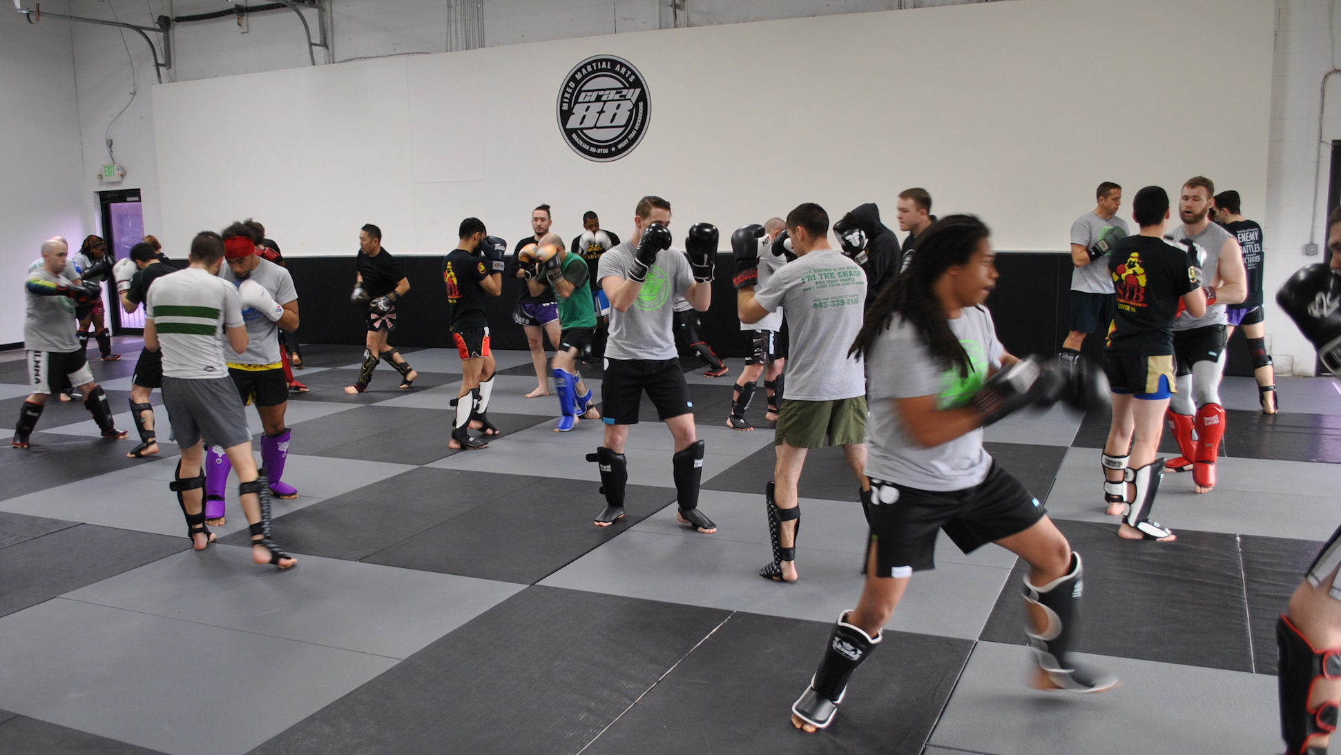 Sparring at the 2018 Feb Joint Muay Thai training