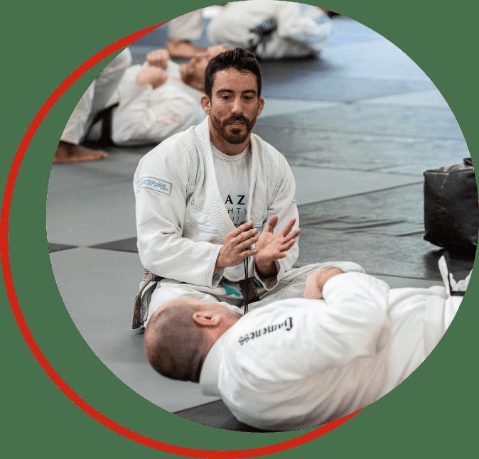 Instructor teaching Brazilian Jiu-Jitsu
