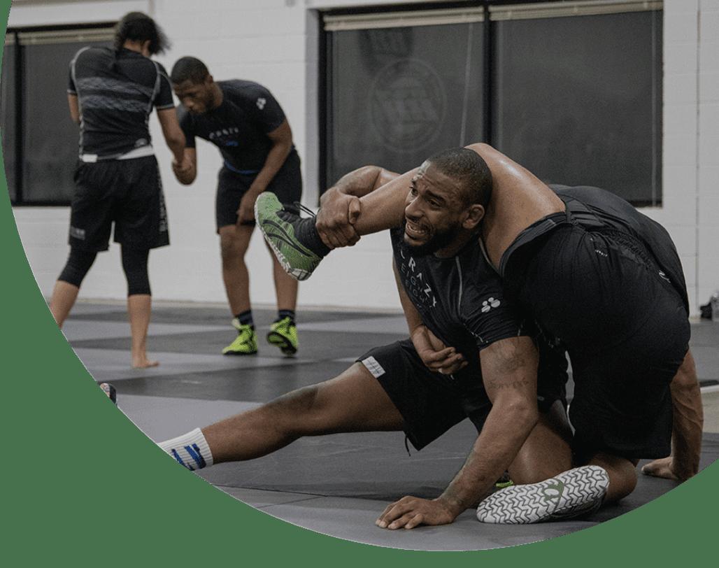 2 men training wrestling